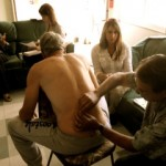 Michael doing acupuncture at clinic
